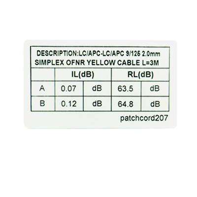 Fiber Patch Cable Packing